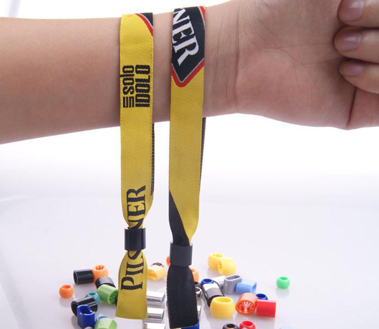 Professionnel usine directe vente personnalisé festival tissu tissé bracelets pas de commande minimum