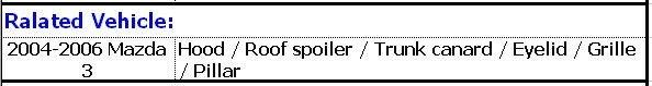 FOR 2004-2006 MAZDA 3 CARBON FIBER EYELIDS EYEBROWS (JSK180302)