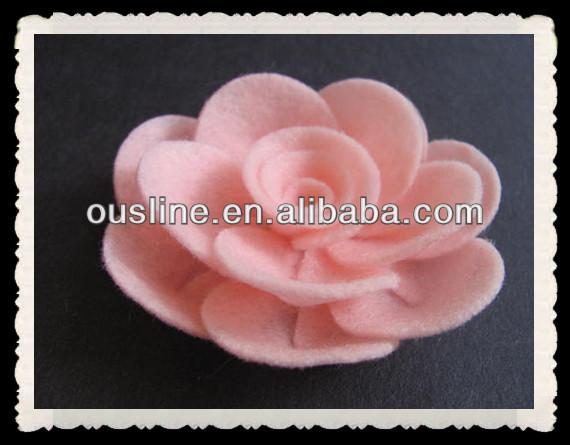 Fieltro rosa patrón de flores artificial, fieltro flor pelo clip