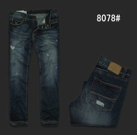 Man's New style Pants men frayed fit designer jeans Blue die Jeans trousers pant for men cowboy pants free shipping Christmas