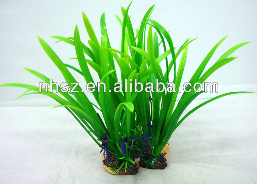 Aquarium artificial plants fish tank small fish tank for Artificial fish pond plants
