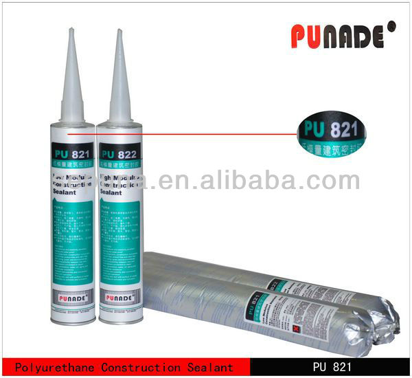High elasticity polyurethane construction sealant of low modulus