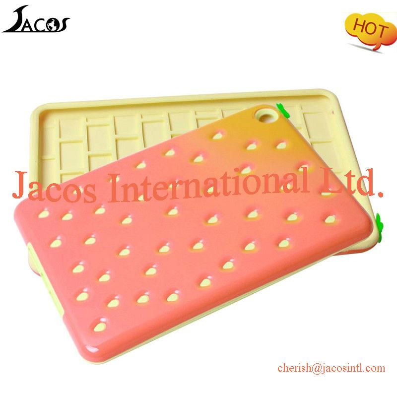 Cute silicon & PC case for iPad mini