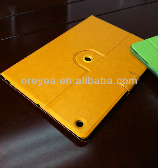 New arrival 360 Degree Rotating Leather Case w/ Swivel Stand for ipad air