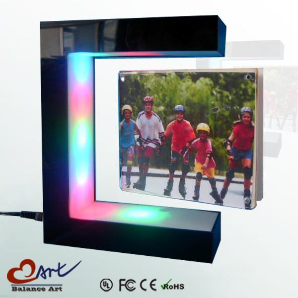 Magnetic Floating photo frame for gift,basketball photo frame