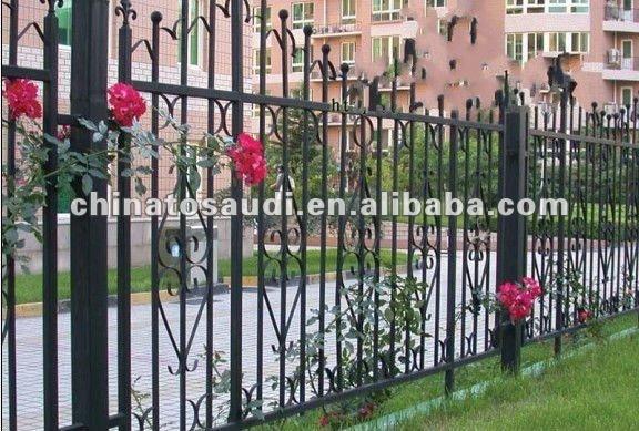 Exterior de hierro para la cerca del jard n vallas - Cercas de hierro ...