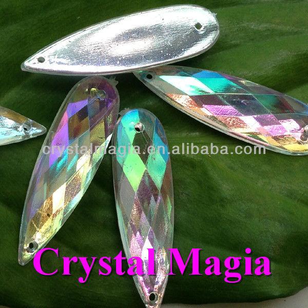 button crystal ab rhinestone