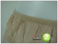 Женские трусики 100% silk knitted sexy lady's lace breifs/panties solid color