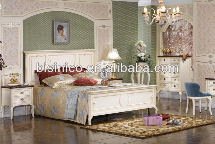 luxury spanish style wooden white bedroom nightstand view