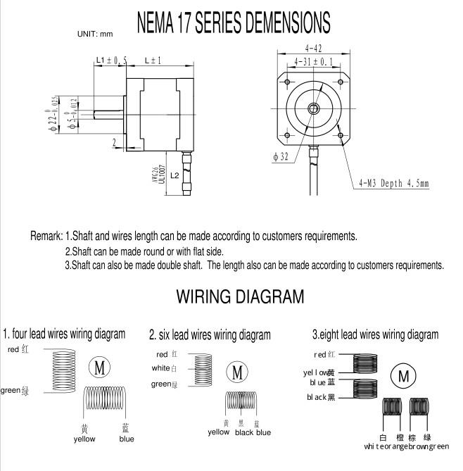 nema 17 wiring diagram cnc get free image about wiring