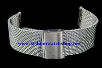 Ремешок для часов New Lug Width 22mm Thickness 2.0mm Stainless Steel Wire Mesh Band Watch Bracelets Strap