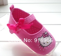 Пинетки Girl toddler shoes, hello kitty baby toddler soft sole baby shoes