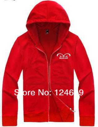 One Piece Marine Hoodie red.JPG