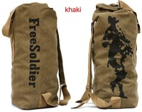 Free shipping,New Outdoor Climbing bag Military Canvas Backpack Barrels Bag,army green/black/khaki,2 size,retail