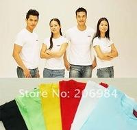 Promotional T-shirt / custom logo / minimum 100pcs / Free Shipping
