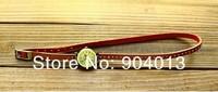 Наручные часы 1pcs Retail Cow leather watches women High quality ROMA watch bracelet header color