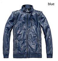 Мужские изделия из кожи и замши men's motorcycle leather jacket, fashion zippers men's Slim short leather Coat PU leather high quality H47