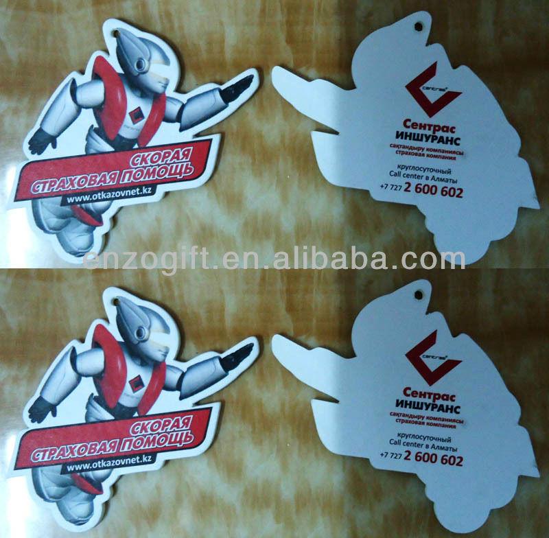 flag car air freshener, custom car air freshener with customized logo print