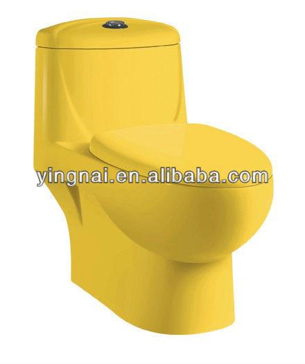 OP-9082-QF siphonic one piece color toilet