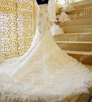 2013 New Zuhair Murad Mermaid Swarvoski Crystal Rihnestone Train Wedding Dresses+182