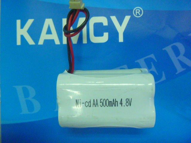 ni cd aa 500mah 4.8v rechargeable battery pack