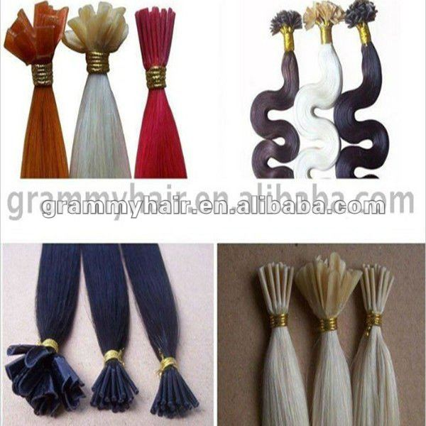 cheap pre-bonded hair extensions brazilian kinky curly