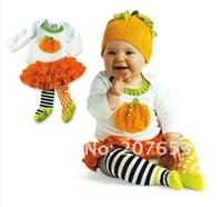 Комплект одежды для девочек 4sets /lot cotton girls 2pcs girls long sleeve t-shirt /top+cake skirt toddle clothes