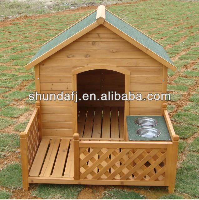 SDD10 Wooden apex dog kennel
