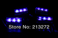 Источник света для авто Car Light Bulb 4x 3LED Car Lighting Glow Blue Decorative 4in1 Atmosphere Lamp Car Interior Light