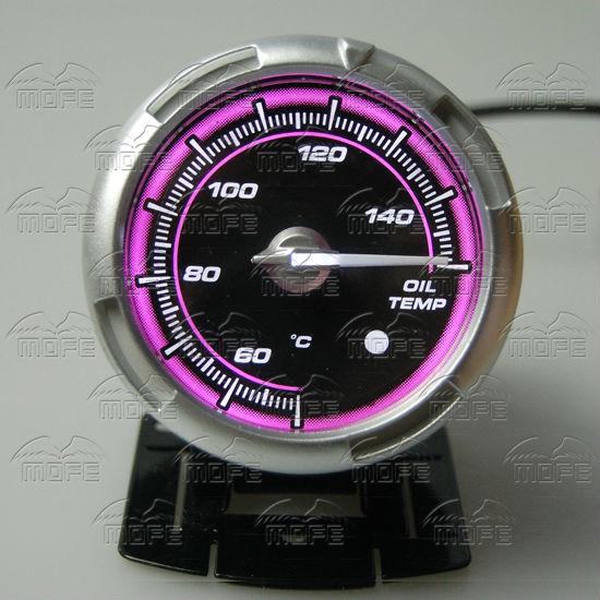 60MM Pink Blue LED Backlight Sensor + Stepping Motor Defi ADVANCE C2 Oil Temperature Temp Gauge Meter DSC_0367