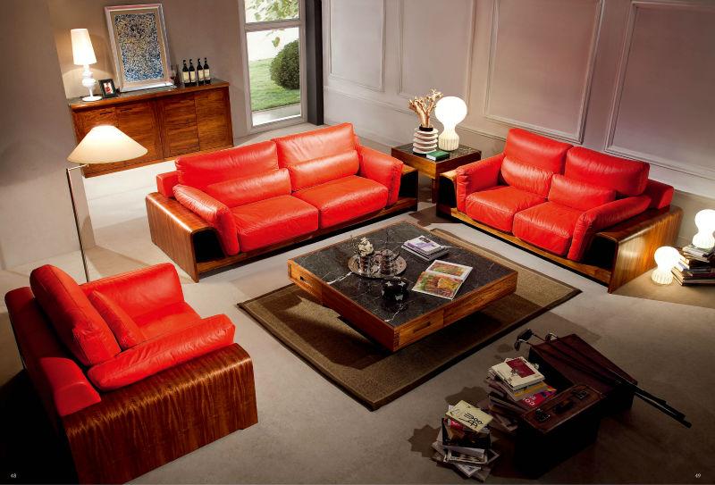 Moderno sofá de madera para muebles de sala sofás para la sala de ...