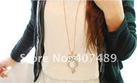 Цепочка с подвеской Korean Owl Necklace Sweater Chain New Year Gift