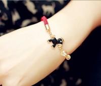 Китайский стиль Мода красный конь запястье браслет шахты женщин шарм браслет рукоделие