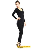 Женское термо-белье Hot sale! Thermal Underwear Suit Warm Bodysuits for women Bodysuits for winter Keep Warm Black SIZE M