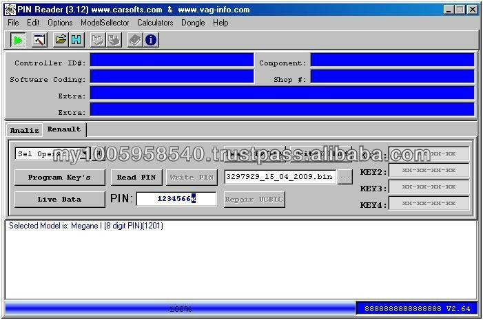 renault pin code reader & key programmer