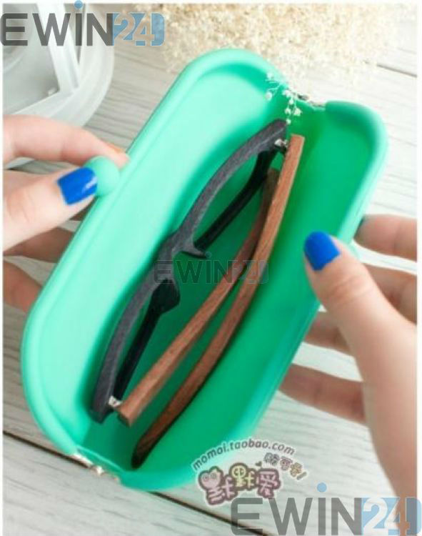 Rubber Silicone Pouch Purse Wallet Glasses Cellphone Cosmetic Coin Bag Case (16)