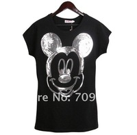 2012 streets Sequins Mickey Avatar Shining cultivating a loose version t-shirt