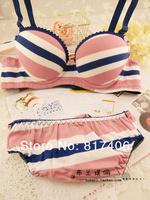 Комплект нижнего белья Comfortable Pure Cotton 3 Rows Tiny Adjustable Style Brassiere Export Sweet Girls Series Bras&Underwear Set Sport