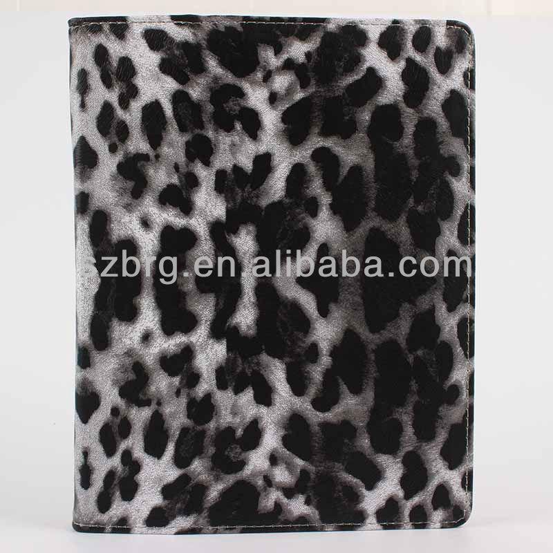 colorful leopard design for ipad side flip case
