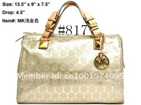 Сумка 2013 HOT MK BAGS, MK PU PURSE, FASHION LADY HANDBAG, WOMEN SHINY SATCHEL 817, 1 PIECE