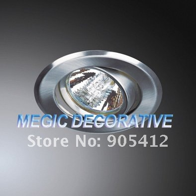 chrome color recessed down light fixture with GU10 or MR16 lamp base free shipping
