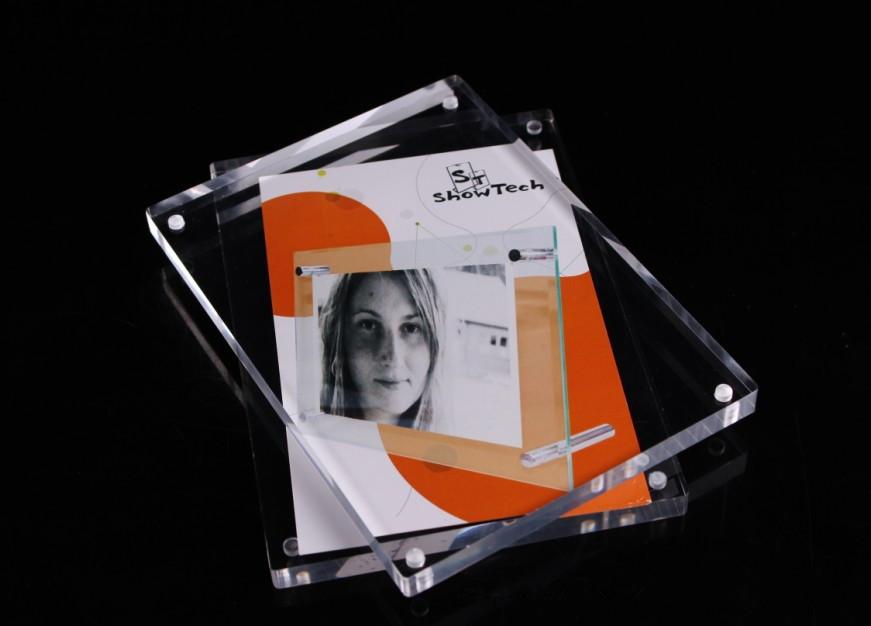Custom acrílico magnético marco de la foto-Marco-Identificación del ...
