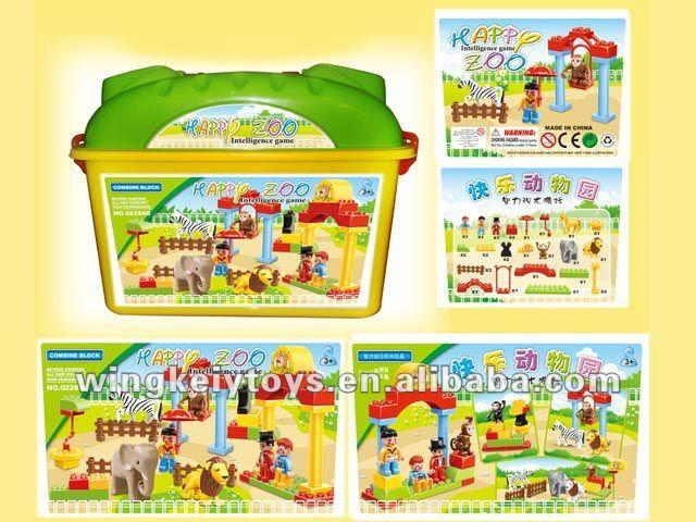 happy zoo educational building blocks toys kids intellect block