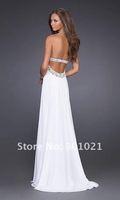 Custom Made 2012 Winter Slight Sweetheart Chiffon Floor Length Zipper Christmas Elegant Strapless Prom Dress