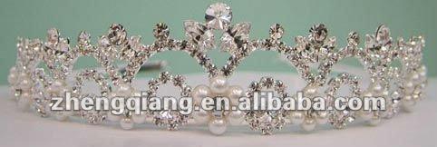 2012 latest beauty diamond alloy crown/tiara,enviroment friendly