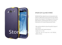 Newest SGP NEO Hybrid Color Series Hard Case For Samsung Galaxy S3 SIII i9300 with retail box ,MOQ:1PCS free shipping