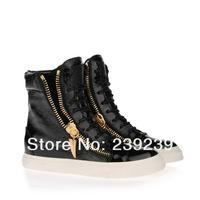 новые gz двусторонняя молния черный цвет, мужчин, женщин 36-46, gz Повседневная обувь женская обувь