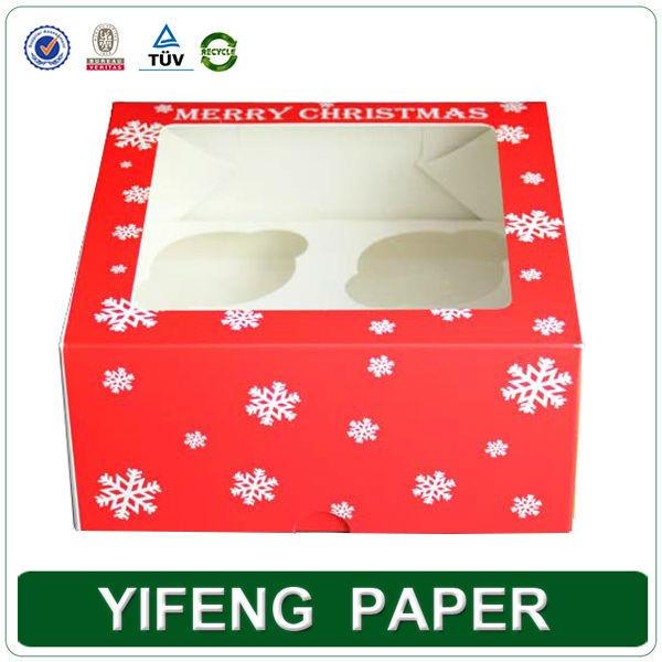 Commerci all'ingrosso personalizzati a buon mercato trasparente riciclato kraft singola di cartone mini carta da imballaggio scatole cupcake