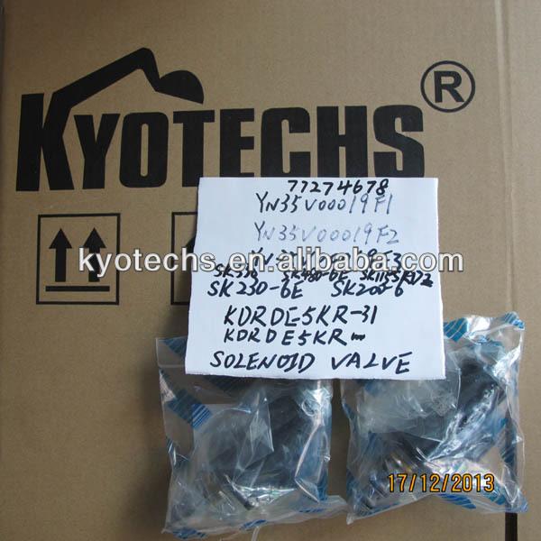 YN35V00019F1 YN35V00019F2 YN35V00019F3 SOLENOID VALVE SK330 SK480-6E SK230-6E SK200-6 KDRDE5KR-31.JPG