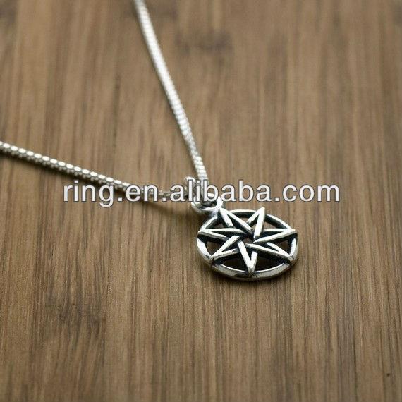 Fairy star heptagram pendant for silver plated buy fairy star il570xn180481610g aloadofball Gallery